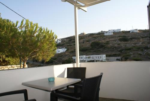 A balcony or terrace at Petra & Fos Studios and Rooms