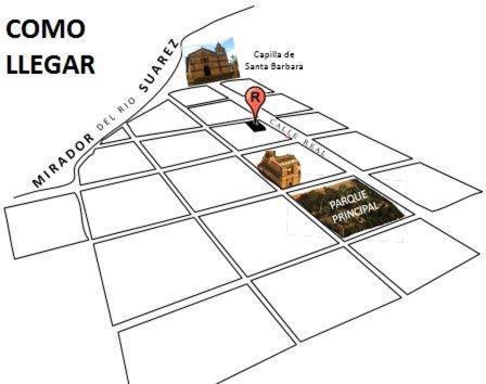 The floor plan of Casa Real Barichara