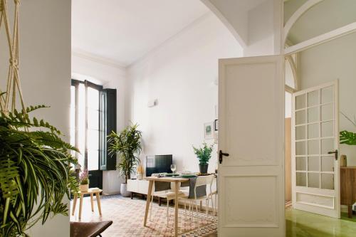 A seating area at Apartamento Canela