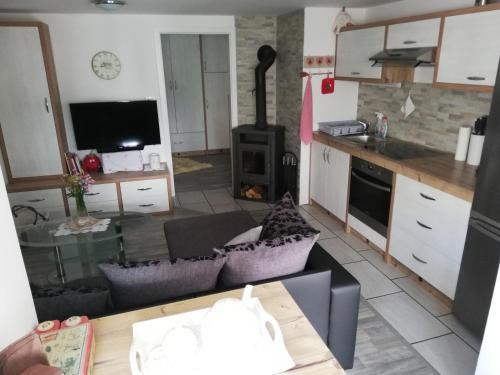 A kitchen or kitchenette at Apartma Natura Kope