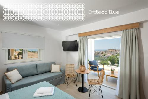 A seating area at Endless Blue