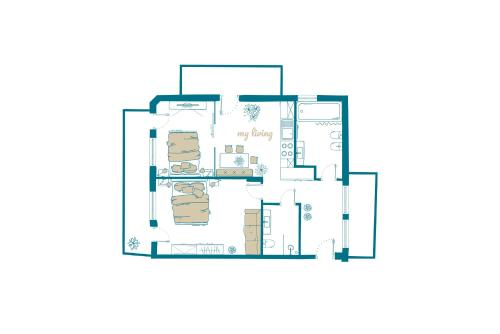 The floor plan of Ahrner Wirt Apartments
