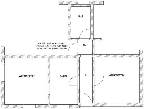 Grundriss der Unterkunft Ferienwohnung Klötsch