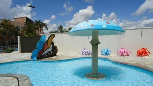 The swimming pool at or near Apartamento Acquaville Caldas Novas