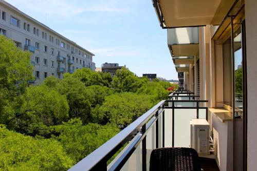 A balcony or terrace at Bratislava Old Town Chill - Private Parking