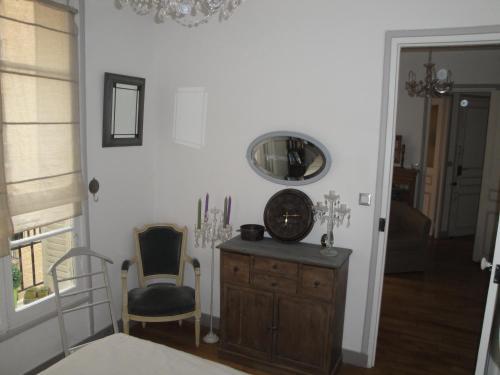 A seating area at Almeria Garden Apartment
