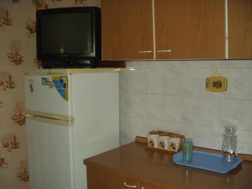 مطبخ أو مطبخ صغير في Домик у моря