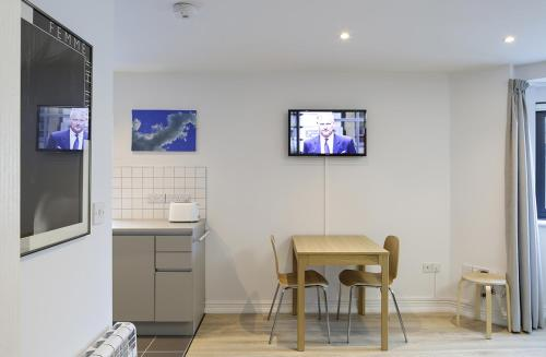 A television and/or entertainment center at 2 Swan Street
