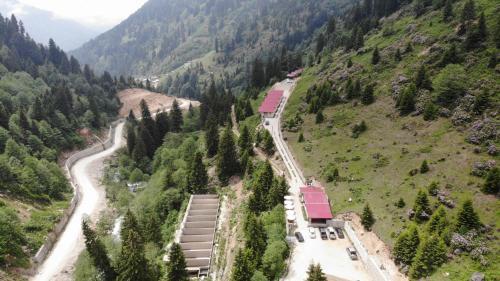 منظر Ayder Cise Dag Evleri من الأعلى
