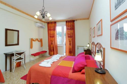 מיטה או מיטות בחדר ב-Appartaments Marrucini