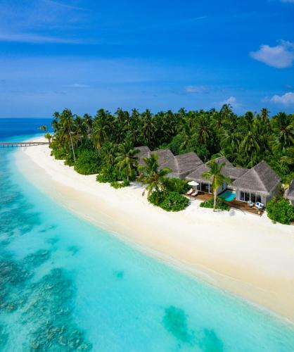 A bird's-eye view of Baglioni Resort Maldives - The Leading Hotels of the World