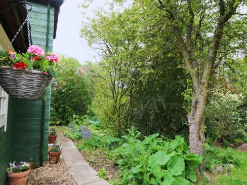 A garden outside Log Cabin