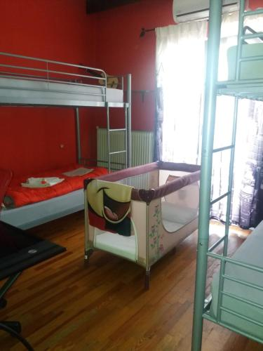 A bunk bed or bunk beds in a room at Vista delle Rocce