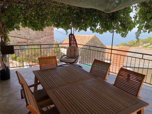 A balcony or terrace at Villa Stanka
