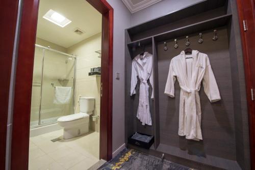 A bathroom at Bram Suites