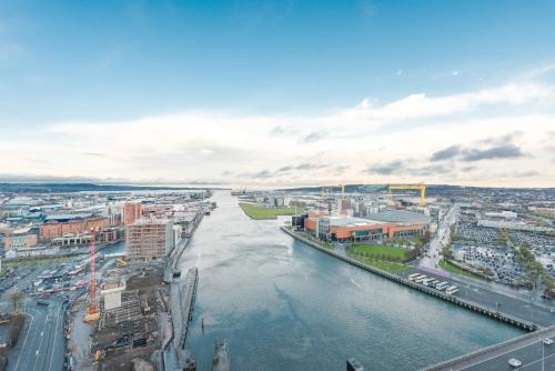 A bird's-eye view of Dream Apartments Belfast