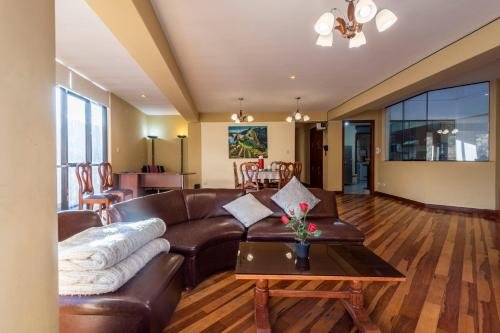 Zona de estar de Espacioso confortable apartamento familia