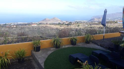 Een algemene foto van de bergen of uitzicht op de bergen vanuit het vakantiehuis