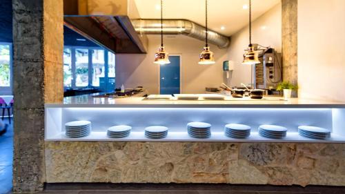Een keuken of kitchenette bij Jardín Del Atlántico