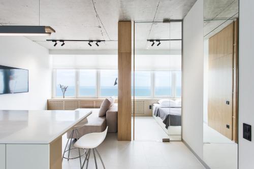 A bathroom at Sea & Sky apartments
