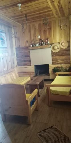 A seating area at KKBB's Homestay in Sagada
