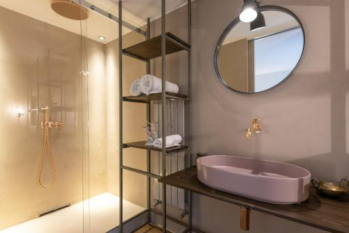 A bathroom at Urban District Apartments - Milan Old Town Castello Brera 1BR