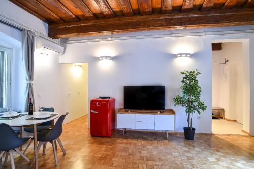 A television and/or entertainment center at Ljubljana Center Apartments