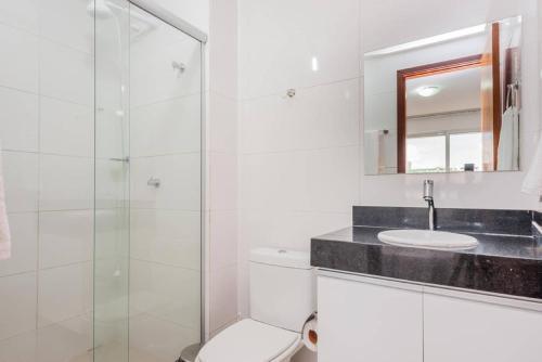 A bathroom at Apartamento Tambau a Beira Mar