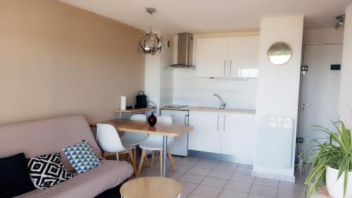 Küche/Küchenzeile in der Unterkunft Appartement T2 valras plage
