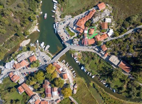 Een luchtfoto van Apartments Vojislav