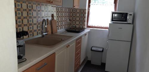 Kuhinja oz. manjša kuhinja v nastanitvi Holiday House TOLLAZZI