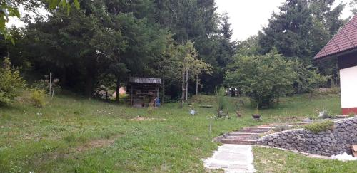 Vrt pred nastanitvijo Holiday House TOLLAZZI
