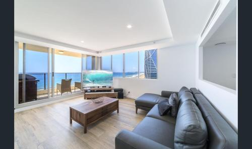 A seating area at The Penthouses Beachfront Penthouse 45