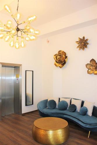 Ein Sitzbereich in der Unterkunft City Hotel Bamberg