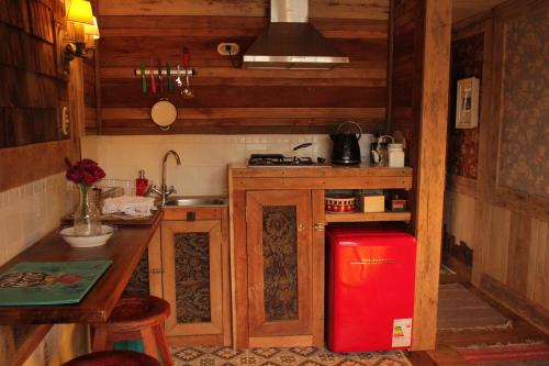Una cocina o zona de cocina en Palafito Ayün