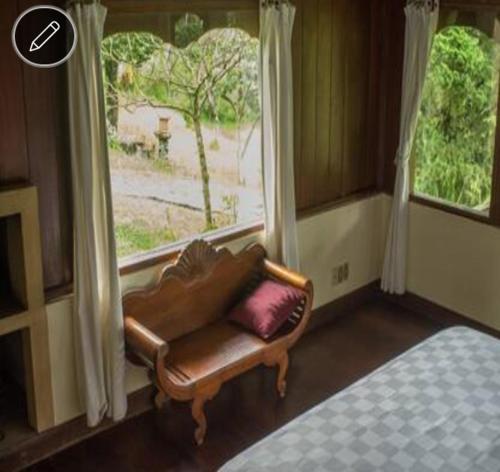 A seating area at Wanagiri Eco Villa