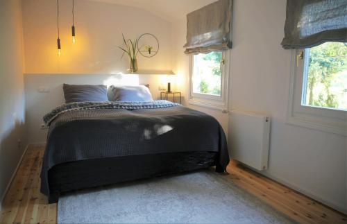 Ein Bett oder Betten in einem Zimmer der Unterkunft N8Quartier Chalet
