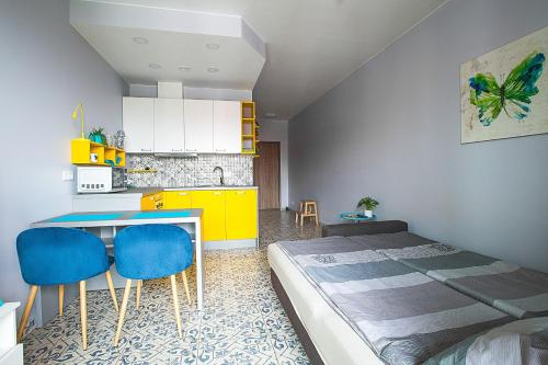 A kitchen or kitchenette at Apartment near Vilnius center