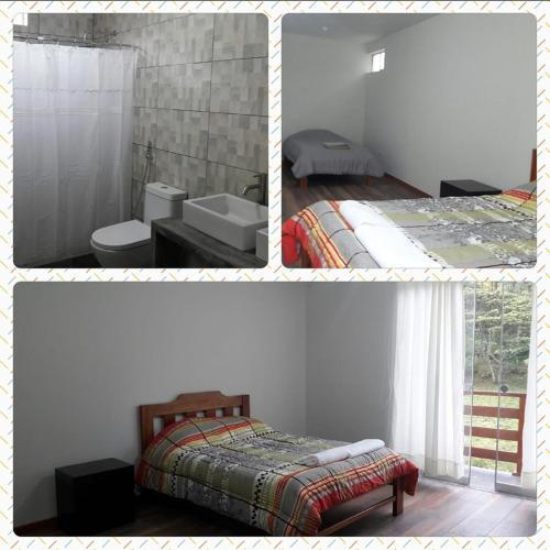 Cama o camas de una habitación en Mi casita de Llamaquizu