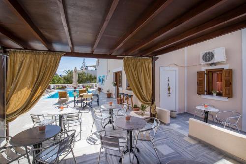 Zona de estar de Villa Voula