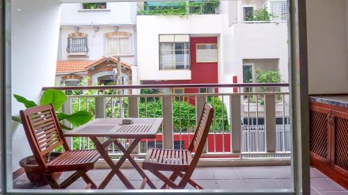 A balcony or terrace at Ananas Family Hotel