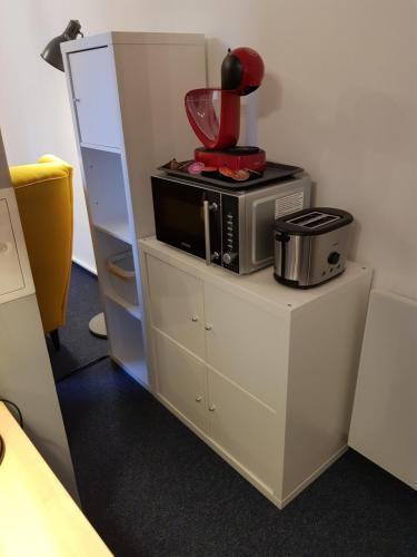 Küche/Küchenzeile in der Unterkunft Apartments Blumenthal