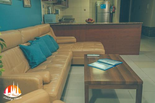 A seating area at A C Pearl Holiday Homes - Sea and Palm view Three Bedroom Apartment