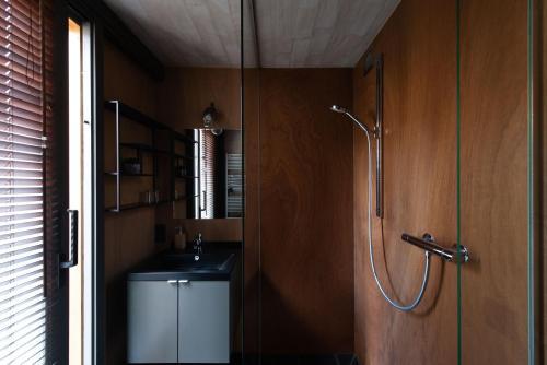 Een badkamer bij Studio 17