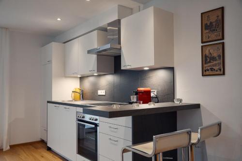 Küche/Küchenzeile in der Unterkunft Junker's Apartments