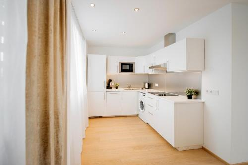 Küche/Küchenzeile in der Unterkunft Galerie 18 Apartments