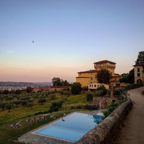 The swimming pool at or close to Fattoria di Maiano