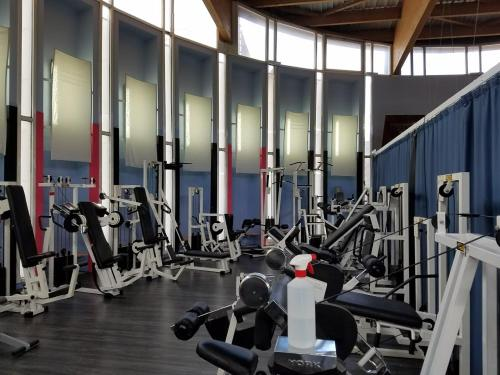 The fitness centre and/or fitness facilities at Aparthotel Llempó