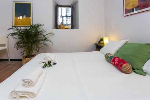Cama o camas de una habitación en Corral del Conde