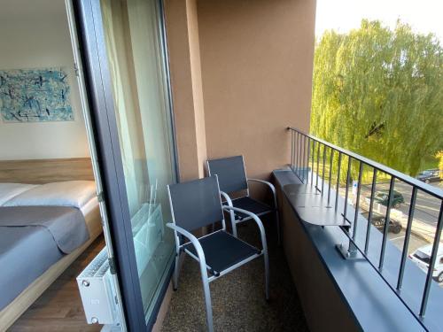 A balcony or terrace at Apartment Poprad